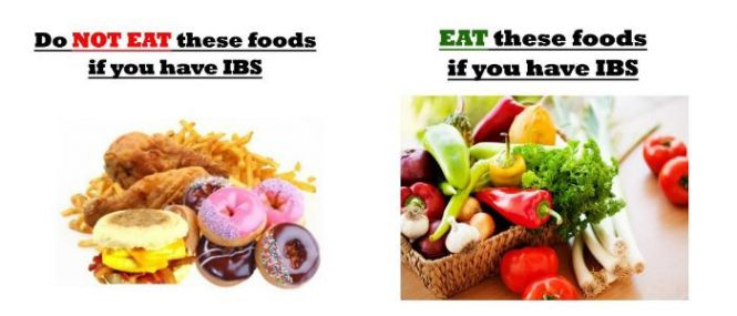 IBS diet list